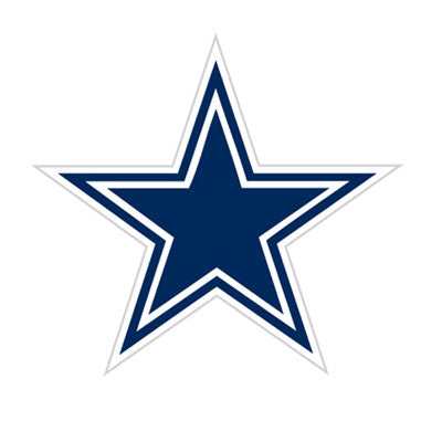 Dallas Cowboy Die Cut Perforated Window Decal Film in Cowboys fan gear
