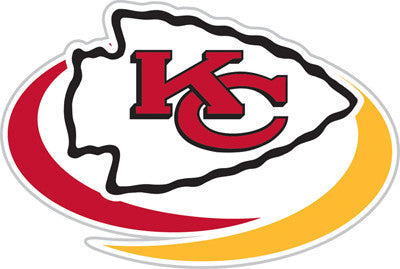 Kansas City Chief Die Cut Perforated Window Decal Film in Chiefs fan gear