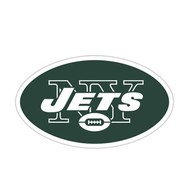 New York Jet Die Cut Perforated Window Decal Film in Jets fan gear