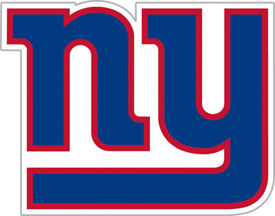 New York Giant Die Cut Perforated Window Decal Film in Giants fan gear
