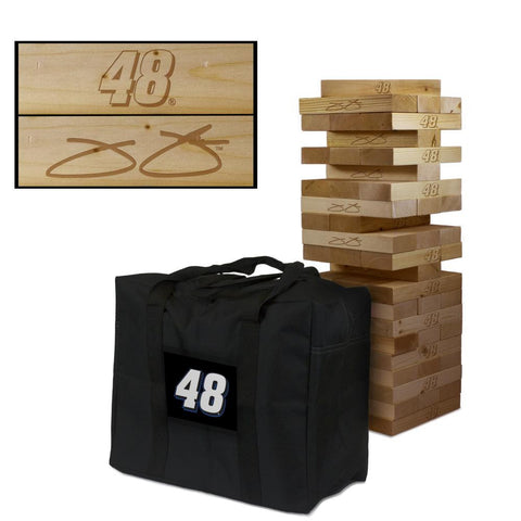 NASCAR #48 Jimmie Johnson Giant Jenga Tumble Tower Game