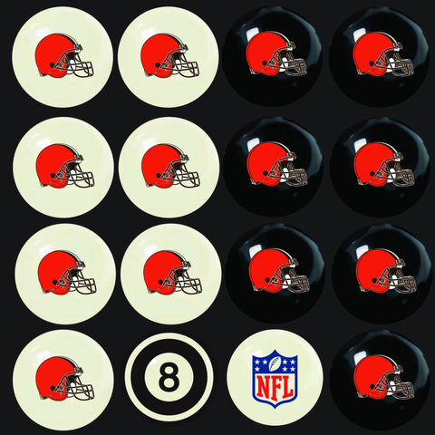 Cleveland Browns Pools Balls Billiard for Pooling and balling hitting