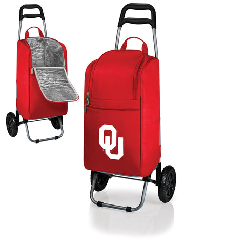 The Oklahoma Sooners Cart Cooler - Picnic Time 545-00-100-454-0