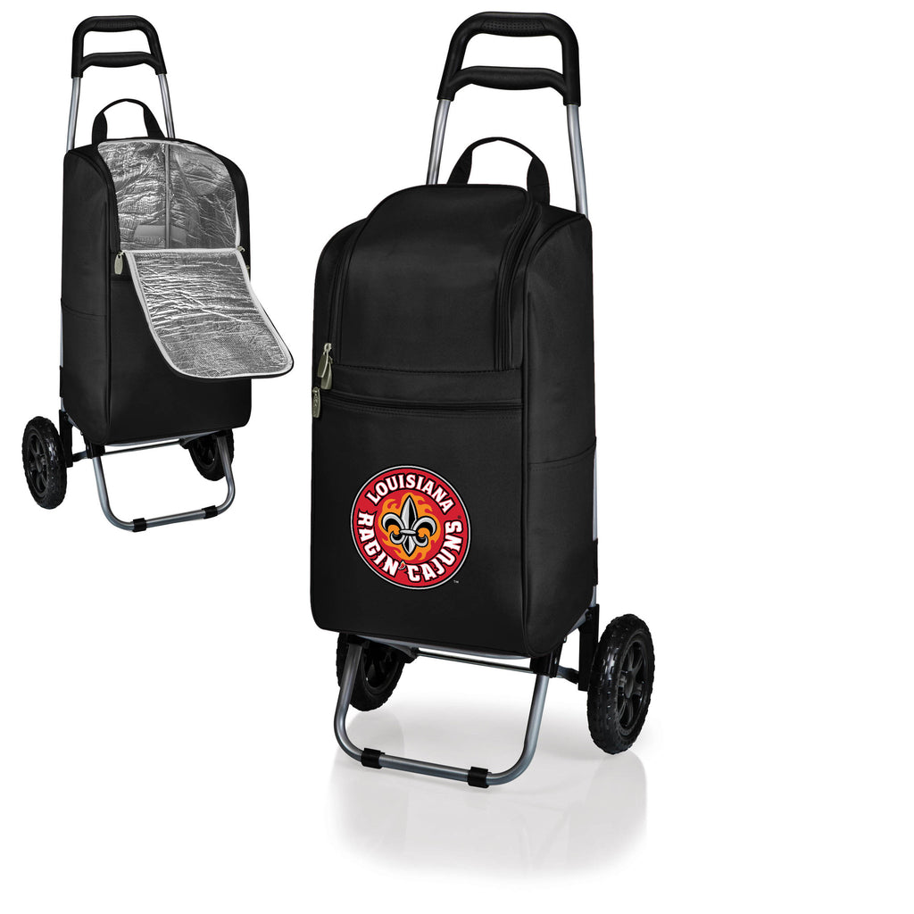 The Louisiana - Lafayette Ragun Cajuns Cart Cooler - Picnic Time 545-00-100-284-0-1