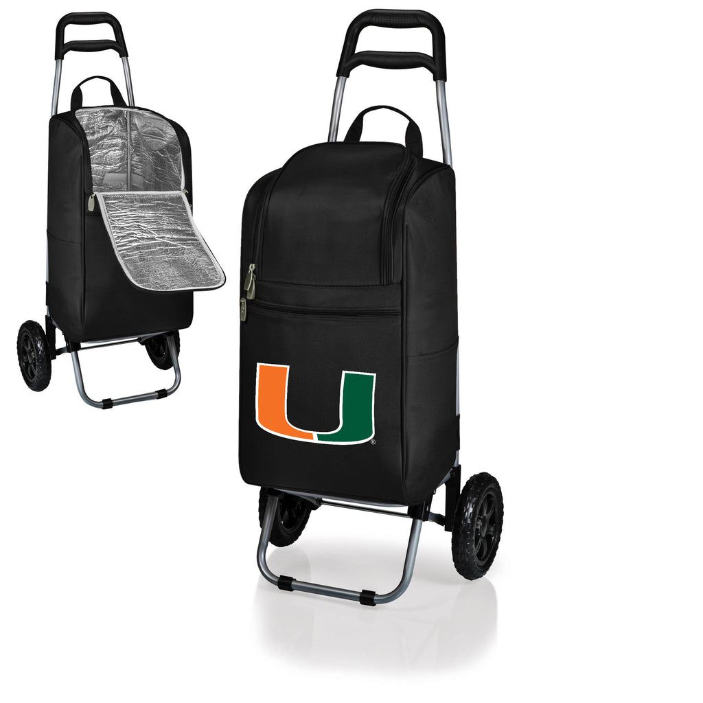 The Miami Hurricanes Cart Cooler - Picnic Time 545-00-175-324-0