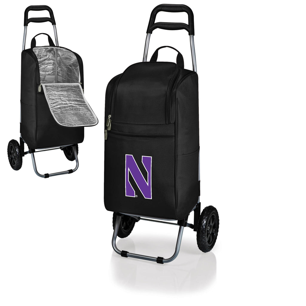 The Northwestern  Wildcats Cart Cooler - Picnic Time 545-00-175-434-0