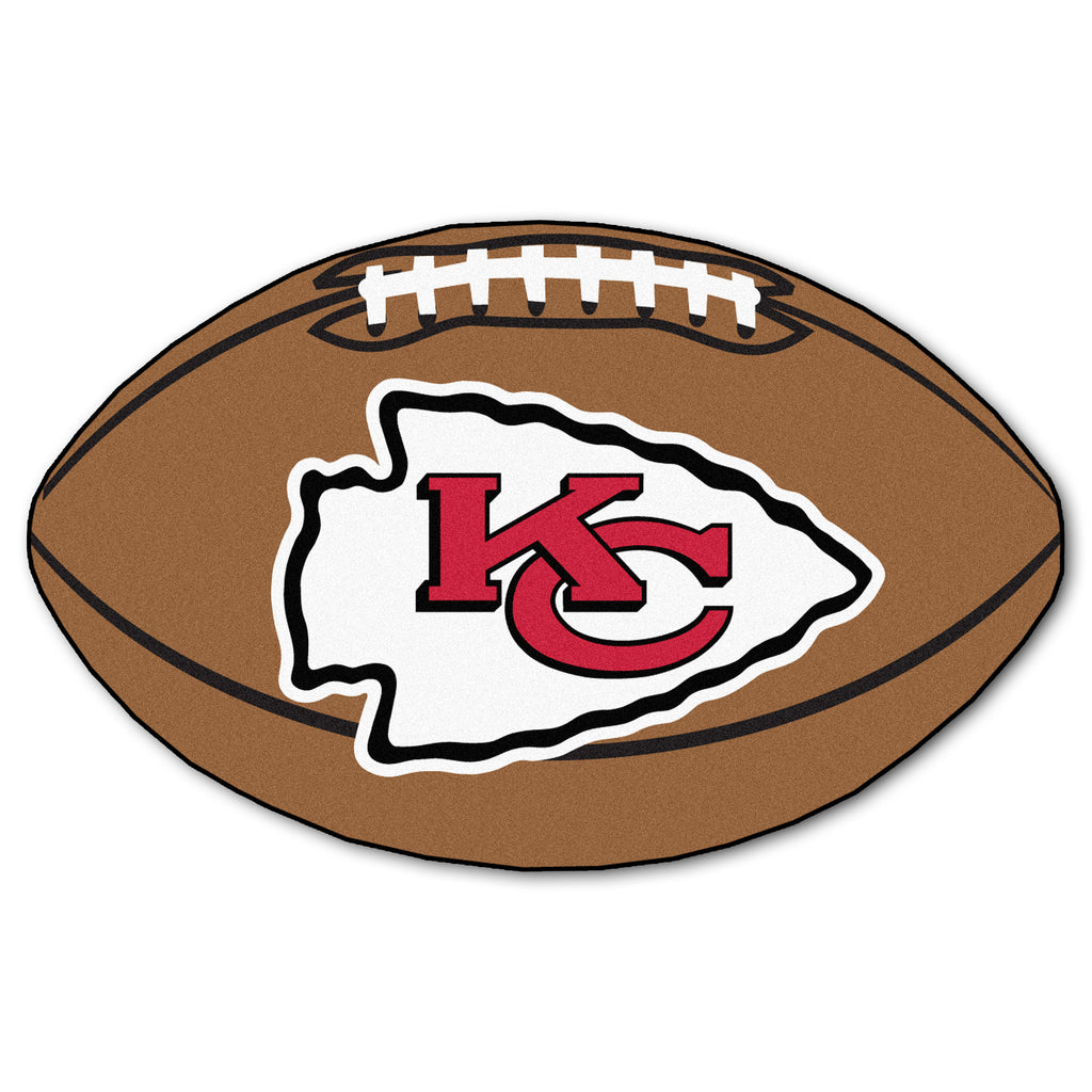 "Football Rug (22"" x 35"") - Kansas City Chiefs"
