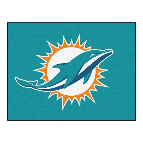 Dolphins All-Star Mat for Miami Dolphin NFL Football Fans