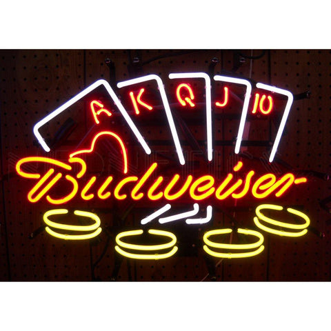 Neonetics 5BUDPO - The Budweiser Poker Neon Sign