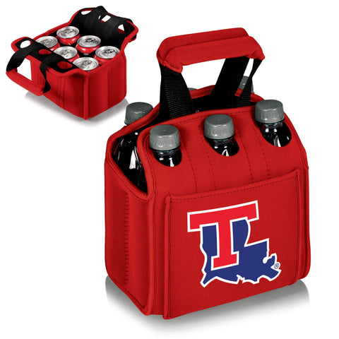 The Louisiana Tech Bulldogs Red Six Pack Cooler - Picnic Time 608-00-100-854-0-1