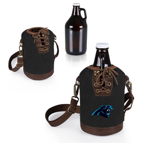 The Carolina Panthers Growler Tote with 64oz Glass Growler - Picnic Time 610-85-311-054-2