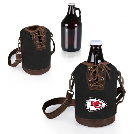 The Kansas City Chiefs Growler Tote with 64oz Glass Growler - Picnic Time 610-85-311-164-2