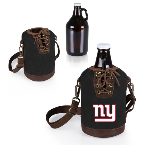 The New York Giants Growler Tote with 64oz Glass Growler - Picnic Time 610-85-311-214-2