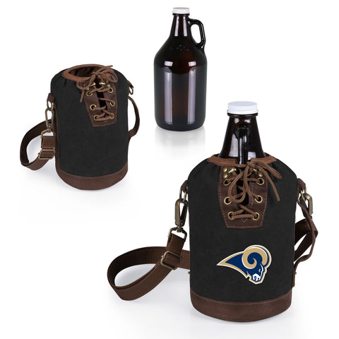 The Los Angeles Rams Growler Tote with 64oz Glass Growler - Picnic Time 610-85-311-334-2
