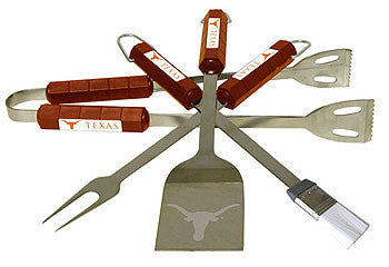 The Texas Longhorns 4 piece BBQ Grill Tool Set - BSI 61034