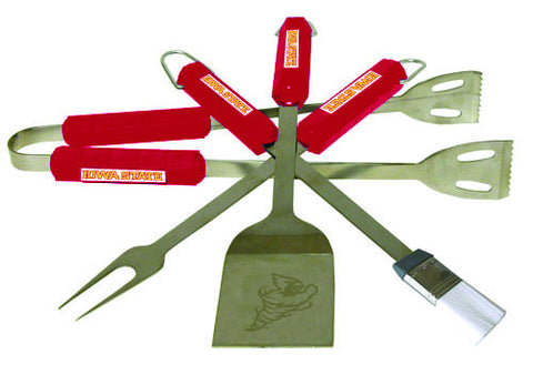 The Iowa State  Cyclones 4 piece BBQ Grill Tool Set - BSI 61122