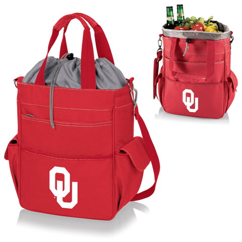 Oklahoma Sooners Activo Cooler Tote - Picnic Time 614-00-100-454-0