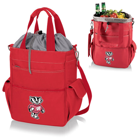 Wisconsin Badgers Activo Cooler Tote - Picnic Time 614-00-100-644-0