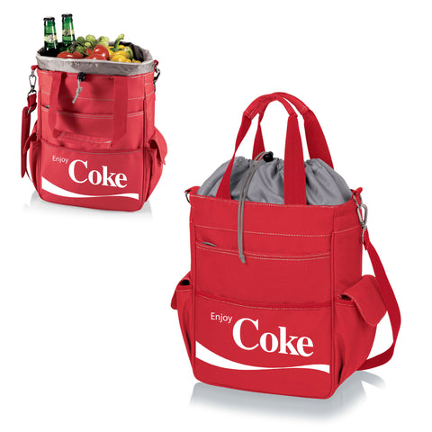 The Coca Cola Activo Cooler Tote Bag- Red  - Picnic Time 614-00-100-911-0