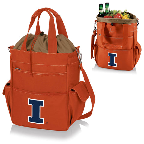 Illinois Fighting Illini Activo Cooler Tote - Picnic Time 614-00-103-214-0