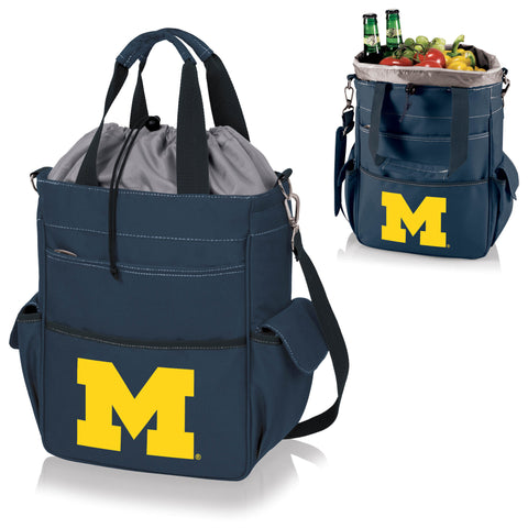Michigan Wolverines Activo Cooler Tote - Picnic Time 614-00-138-344-0