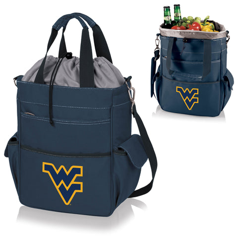 West Virginia  Mountaineers Activo Cooler Tote - Picnic Time 614-00-138-834-0