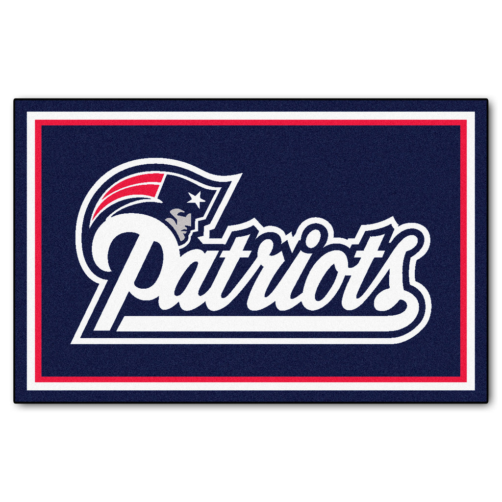 The New England Patriots NFL 4Ft x 6Ft Area Rug - FanMats 6268