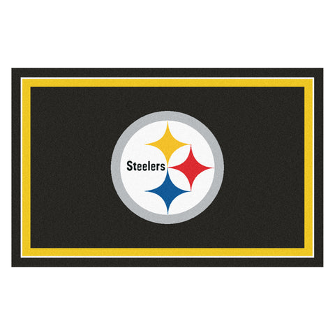 The Pittsburgh Steelers NFL 4Ft x 6Ft Area Rug - FanMats 6318