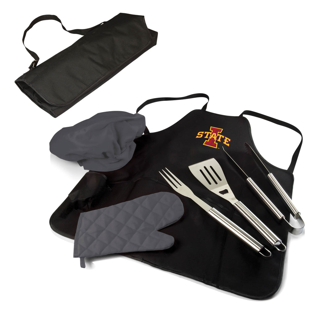The Iowa State Cyclones BBQ Apron Tote Pro Grill Tool Set