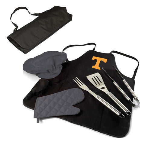 The Tennessee Volunteers BBQ Apron Tote Pro Grill Tool Set
