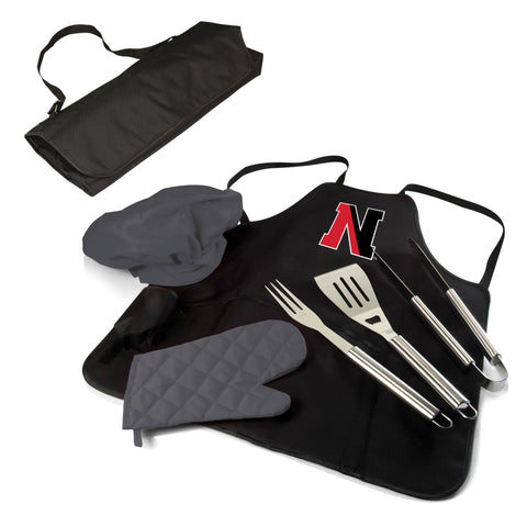 The Northeastern Huskies BBQ Apron Tote Pro Grill Tool Set