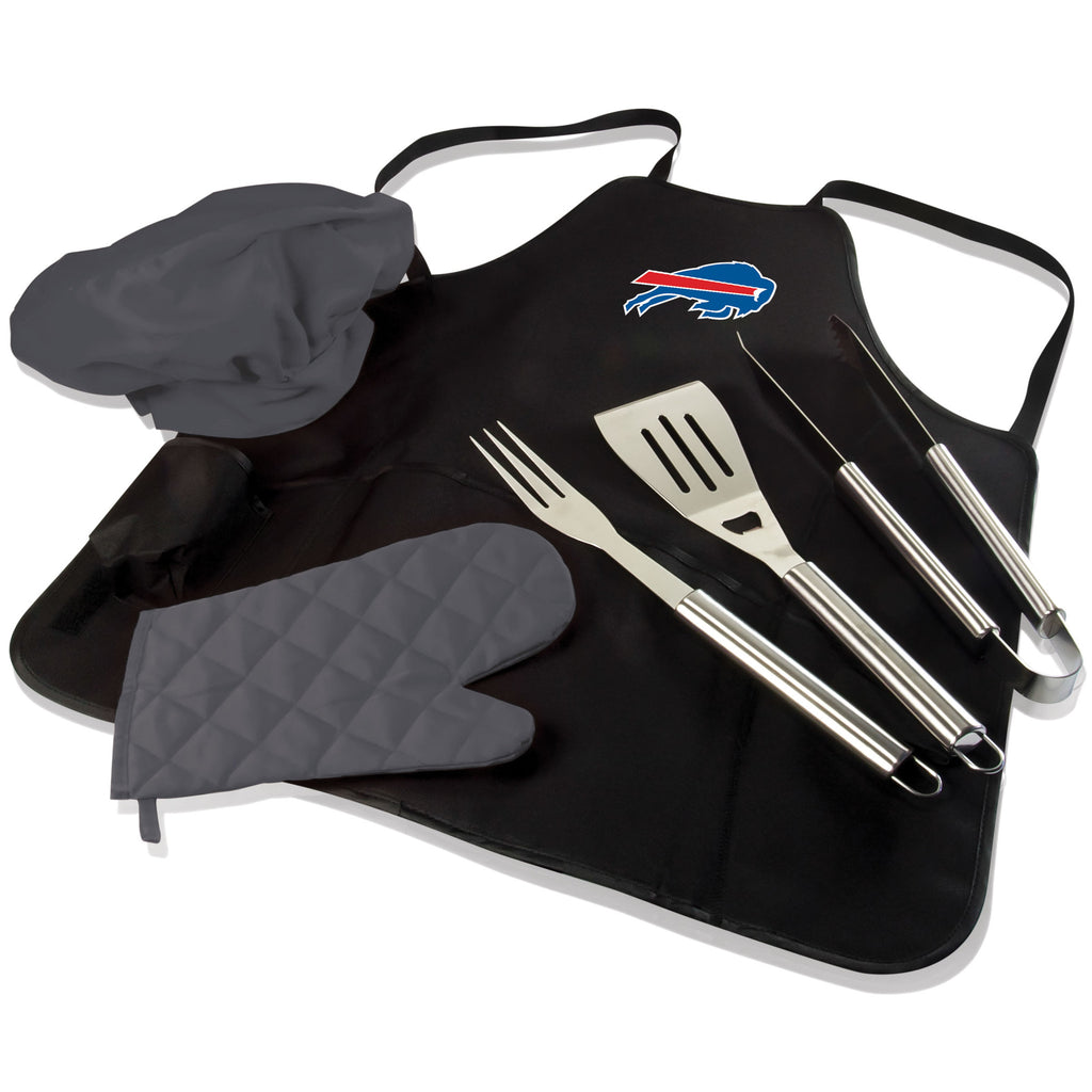 Buffalo BBQ Apron Tote and Bills Grill Tool Set
