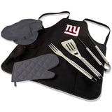 New York BBQ Apron Tote and Giants Grill Tool Set
