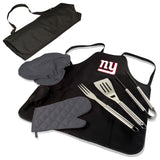 Giants BBQ Apron Tote and New York Grill Tool Sets
