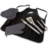 Philadelphia BBQ Apron Tote and Eagles Grill Tool Set