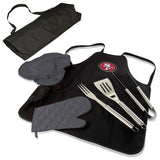 49ers BBQ Apron Tote and San Francisco Grill Tool Sets