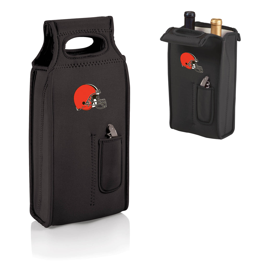 The Cleveland Browns Samba Two Bottle Wine Tote