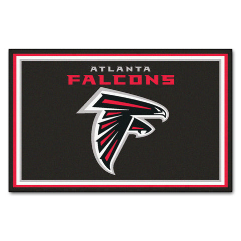 The Atlanta Falcons NFL 4Ft x 6Ft Area Rug - FanMats 6558