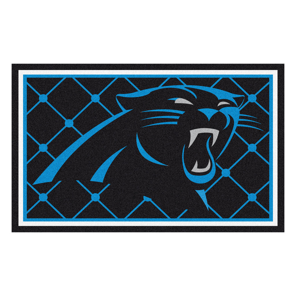 The Carolina Panthers NFL 4Ft x 6Ft Area Rug - FanMats 6565