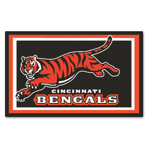 The Cincinnati Bengals NFL 4Ft x 6Ft Area Rug - FanMats 6568