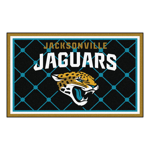 The Jacksonville Jaguars NFL 4Ft x 6Ft Area Rug - FanMats 6583