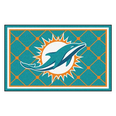The Miami Dolphins NFL 4Ft x 6Ft Area Rug - FanMats 6588