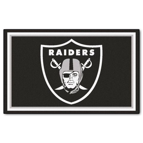 The Oakland Raiders NFL 4Ft x 6Ft Area Rug - FanMats 6598