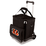 Cincinnati Bengals portable wine cellar with cart