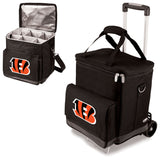 The portable Cincinnati Bengals wine cellar with trolley