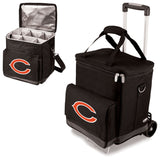 Wine cellar with trolley by picnic time Chicago Bears