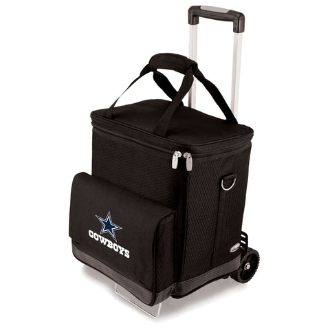 Wine cellar with cart - great tailgating cooler for Dallas Cowboys fans