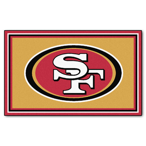 The San Francisco 49ers NFL 4Ft x 6Ft Area Rug - FanMats 6604