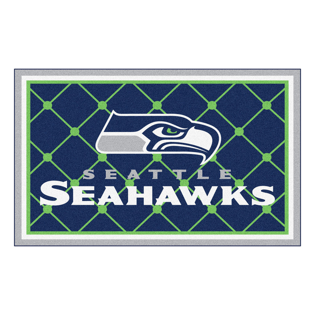 The Seattle Seahawks NFL 4Ft x 6Ft Area Rug - FanMats 6606