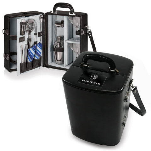 The Baltimore Ravens Manhattan Portable Cocktail Mini Bar Case